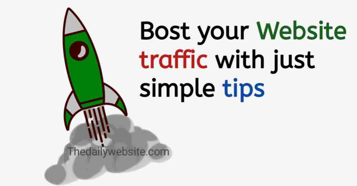 How to get more traffic to my website