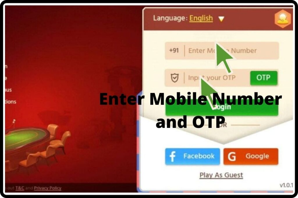 How To Sign Up on Teen Patti One